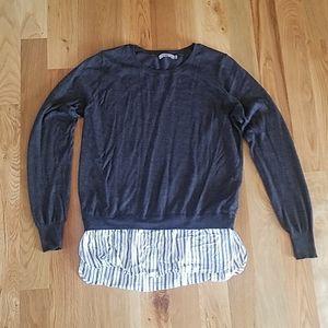 Layered Sweater Blouse
